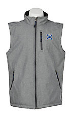 HOOey Men's Light Grey Bonded w/ Blue Bevel Logo Vest