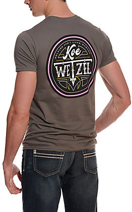 Men's Charcoal Koe Wetzel Selfish Short Sleeve T-Shirt