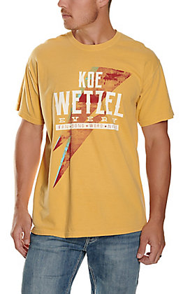 Men's Mustard Koe Wetzel Every Short Sleeve T-Shirt
