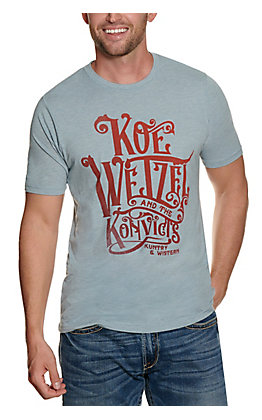 Men's Blue Koe Wetzel with Faded Red Kuntry & Wistern Graphic Short Sleeve T-shirt - Cavender's Exclusive