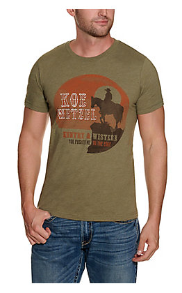 Men's Olive Koe Wetzel You Pushed Me Short Sleeve T-Shirt  - Cavender's Exclusive