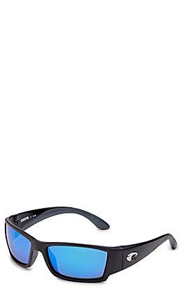 Costa Corbina Matte Black Blue Mirror Sunglasses