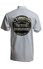 Cowboys Unlimited Mens Ash Grey I'm You're Huckleberry Tshirt