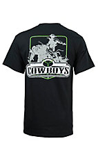 Cowboys Unlimited Men's Black Bronc Rider Short Sleeve Tee