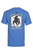 Cowboys Unlimited Men's Heather Blue Diamond Bronc Graphic  S/S T-Shirt