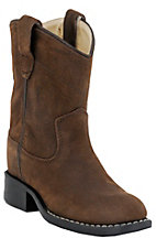 Cavenders Childrens Brown Bay Apache Roper Boots