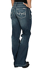 Cruel Girl Women's Jayley Dark Wash Trouser Jeans