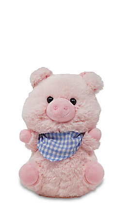 Cuddle Barn Sweet Cheeks Singing Pig Stuffed Animal
