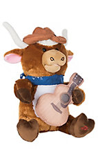 Cuddle Barn Lonestar the Longhorn Singing Stuffed Animal Toy
