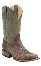 Corral Men's Cognac Shoulder w/Olive Top Double Welt Square Toe Western Boots