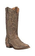 Corral Boot Company Men's Golden Tan with Embroidery Comfort Western Round Toe Boots