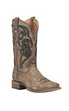 Corral Boot Company Men's Brown with Embroidery Comfort Western Square Toe Boots