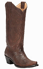 Corral Women's Burnished Brown with Fancy Stitch Snip Toe Western Boots