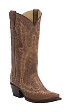 Corral Women's Vintage Brown with Fancy Stitch Snip Toe Western Boots