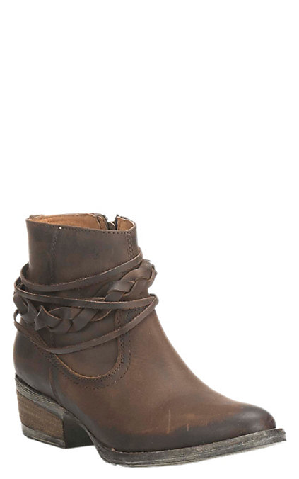 9660c68135d Circle G by Corral Women's Burnished Brown Strappy Booties