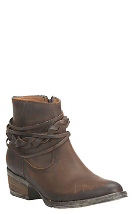 Circle G by Corral Women's Burnished Brown Strappy Booties