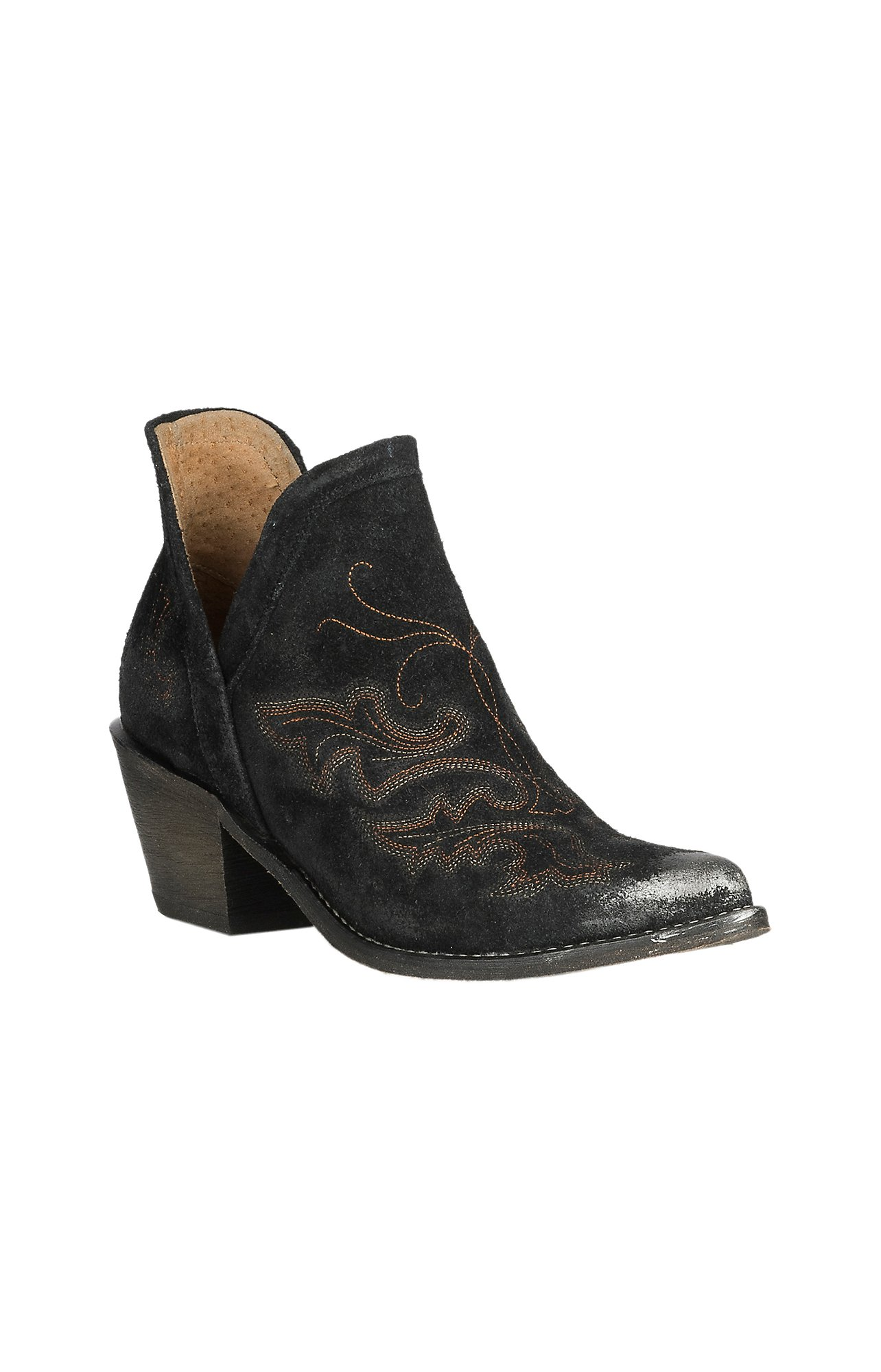 Circle G by Corral Women's Black Embroidered Round Toe Bootie
