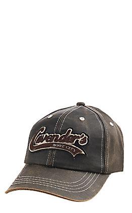 Cavender's Distressed Brown Laser Logo Cap