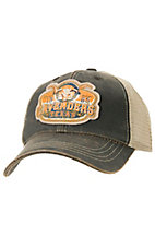 Cavenders Skull Oiled Brown Mesh Back Cap