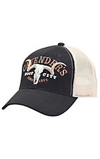 Cavenders Black with Cream Mesh Trucker Cap