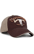 Cavenders Brown & Tan Cotton Twill Cap