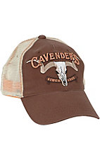 Cavenders Brown with Cream Mesh Trucker Cap