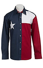Larro L/S Texas Flag Snap Shirt CC128