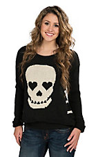 Vintage Havana Women's Black Sugar Skull Sweater