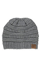 C.C. Beanies Grey Knit Beanie Hat