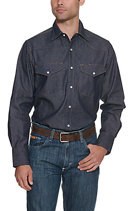 Cowboy Workwear  Denim Long Sleeve Work Shirt