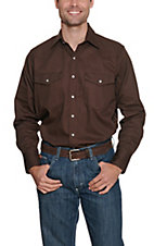 Cowboy Workwear Dark Brown Snap Western Workshirt