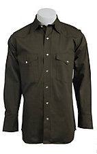 Cowboy Workwear Dark Olive Green L/S Work Shirt