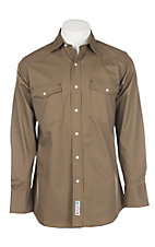 Cowboy Workwear Bark Brown L/S Work Shirt