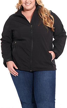 Cavender's Black Logo Bonded Jacket - Plus Size