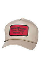HOOey Khaki Radiator Ranch Cattle Snap Back Cap
