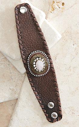 Cowgirl Confetti Sunlit Shores Quartz Stone Cuff Bracelet