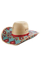 Charlie 1 Horse Outlaw Blanket Print Palm Leaf Hat