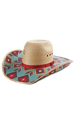 Charlie 1 Horse Outlaw Blanket Print Palm Leaf Hat
