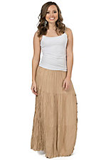 Crazy Cowgirl Women's Sesame Tan Broomskirt