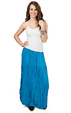 Crazy Cowgirl Women's Turquoise Broomskirt