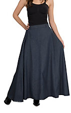 Crazy Cowgirl Women's A Line Long Denim Skirt