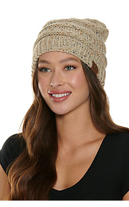 C.C. Speckled Oatmeal Beanie