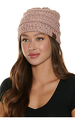 C.C. Speckled Pink Beanie