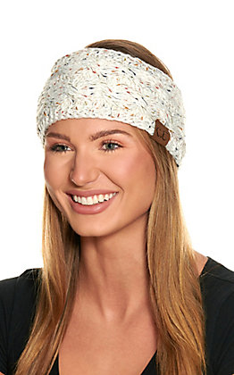 C.C. Ivory Speckled Fleece Lined Headwrap