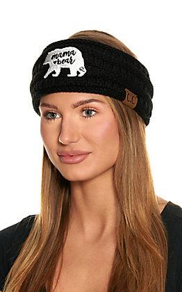 C.C. Black Mama Bear Fleece Lined Headwrap