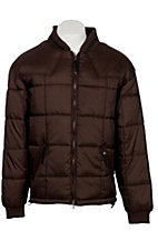 Rafter C Ranchwear Mens' Chocolate Brown Polyfill Quilted Jacket