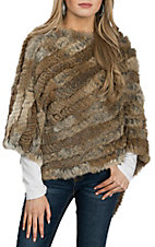 Cowgirl Legend Women's Brown Rabbit Poncho