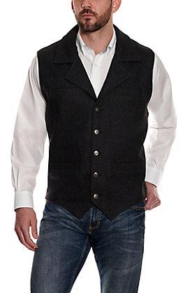 Cavenders Men's Black Wool Vest