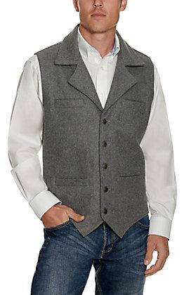 Cavenders Men's Grey Wool Vest