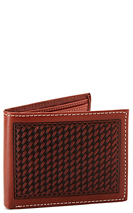 Cowboy Chrome Men's Bi-Fold Basketweave Wallet